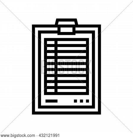 Score Paper Golf Game Line Icon Vector. Score Paper Golf Game Sign. Isolated Contour Symbol Black Il