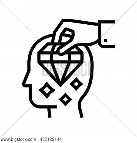 Brilliancy Knowledge Line Icon Vector. Brilliancy Knowledge Sign. Isolated Contour Symbol Black Illu