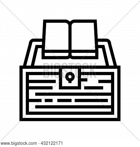 Book Educate Knowledge Line Icon Vector. Book Educate Knowledge Sign. Isolated Contour Symbol Black