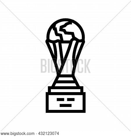 Cup Award Soccer Championship Line Icon Vector. Cup Award Soccer Championship Sign. Isolated Contour