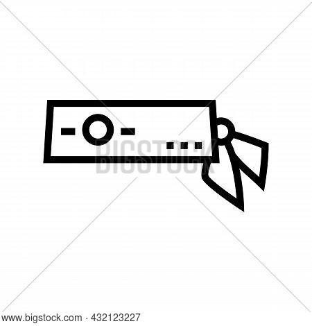 Headband Tennis Player Line Icon Vector. Headband Tennis Player Sign. Isolated Contour Symbol Black