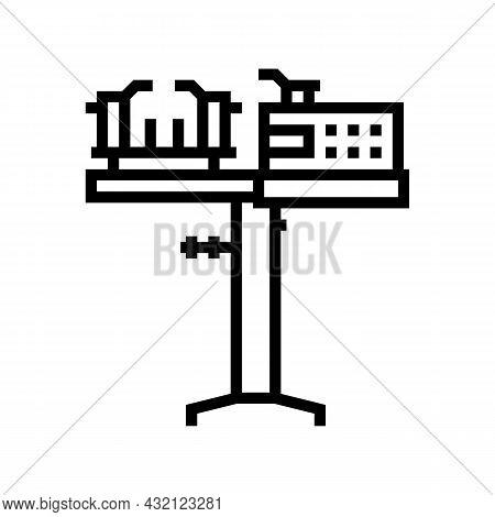 Racquet Stringing Machine Line Icon Vector. Racquet Stringing Machine Sign. Isolated Contour Symbol