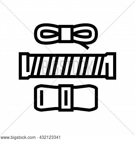 Over Grips Tennis Accessory Line Icon Vector. Over Grips Tennis Accessory Sign. Isolated Contour Sym