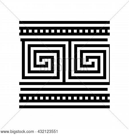 Ornament Ancient Greece Glyph Icon Vector. Ornament Ancient Greece Sign. Isolated Contour Symbol Bla
