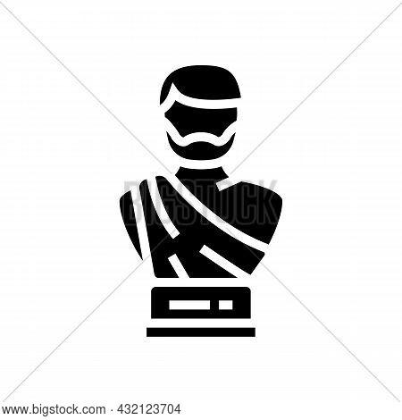 Statue Ancient Rome Glyph Icon Vector. Statue Ancient Rome Sign. Isolated Contour Symbol Black Illus