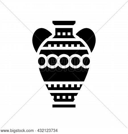 Amphora Ancient Rome Glyph Icon Vector. Amphora Ancient Rome Sign. Isolated Contour Symbol Black Ill
