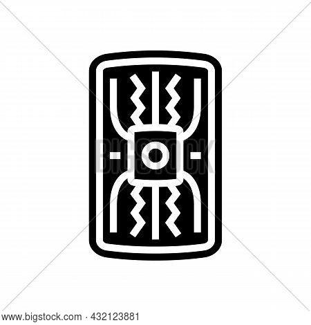 Warrior Shield Ancient Rome Glyph Icon Vector. Warrior Shield Ancient Rome Sign. Isolated Contour Sy