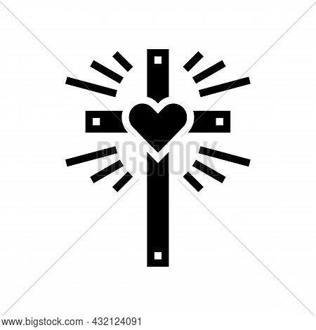 Faith Christianity Glyph Icon Vector. Faith Christianity Sign. Isolated Contour Symbol Black Illustr