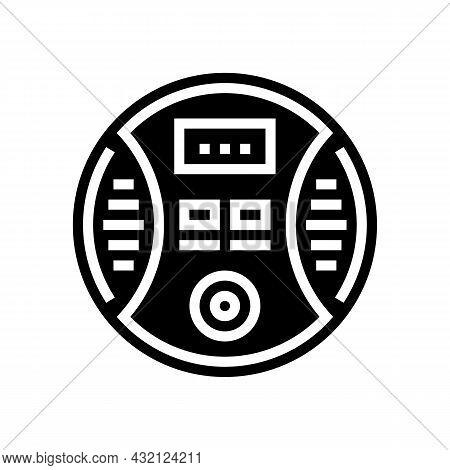 Carbon Monoxide Detector Glyph Icon Vector. Carbon Monoxide Detector Sign. Isolated Contour Symbol B