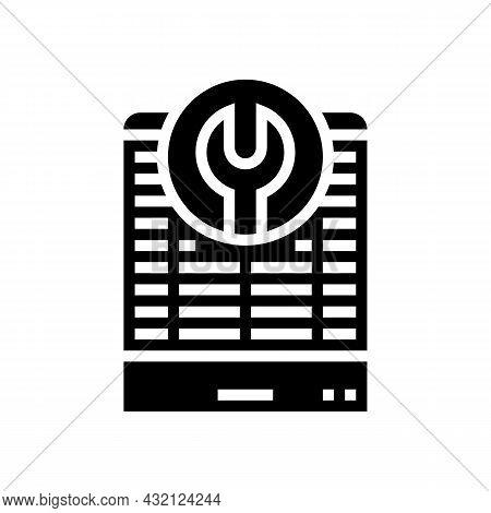Heat Pump Repair Glyph Icon Vector. Heat Pump Repair Sign. Isolated Contour Symbol Black Illustratio