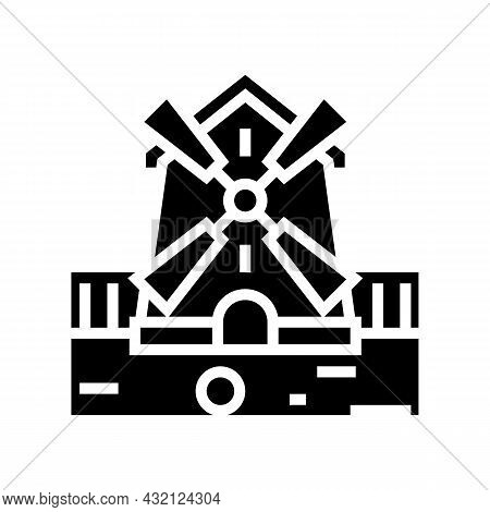 Mill Golf Playground Glyph Icon Vector. Mill Golf Playground Sign. Isolated Contour Symbol Black Ill
