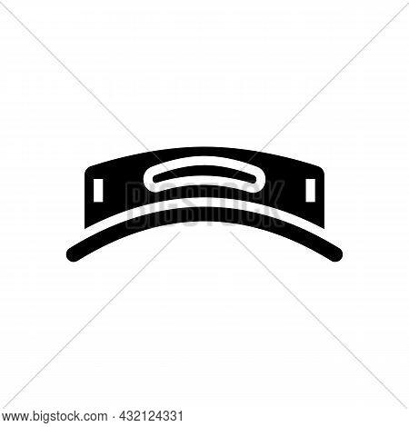 Visor Hat Golf Player Glyph Icon Vector. Visor Hat Golf Player Sign. Isolated Contour Symbol Black I
