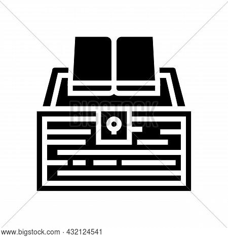 Book Educate Knowledge Glyph Icon Vector. Book Educate Knowledge Sign. Isolated Contour Symbol Black
