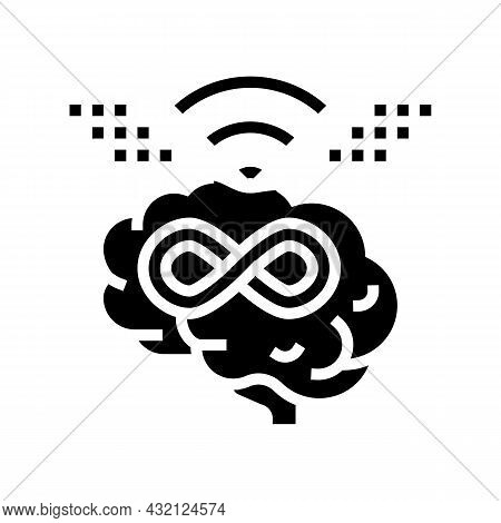 Endless Learning Glyph Icon Vector. Endless Learning Sign. Isolated Contour Symbol Black Illustratio