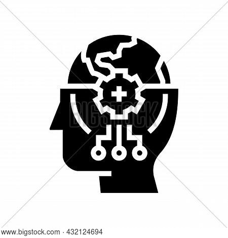 World Knowledge Glyph Icon Vector. World Knowledge Sign. Isolated Contour Symbol Black Illustration