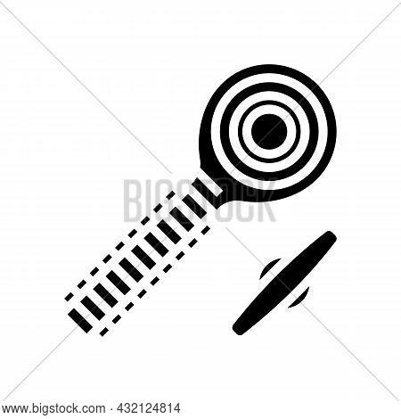 Rod End Bolt Glyph Icon Vector. Rod End Bolt Sign. Isolated Contour Symbol Black Illustration