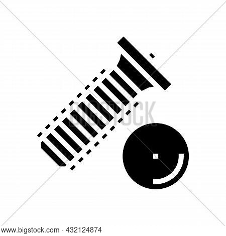 Weld Screw Glyph Icon Vector. Weld Screw Sign. Isolated Contour Symbol Black Illustration