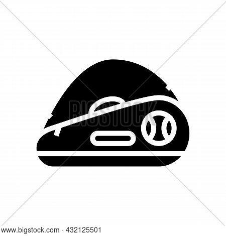 Tennis Bag Glyph Icon Vector. Tennis Bag Sign. Isolated Contour Symbol Black Illustration
