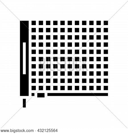 Net Tennis Accessory Glyph Icon Vector. Net Tennis Accessory Sign. Isolated Contour Symbol Black Ill