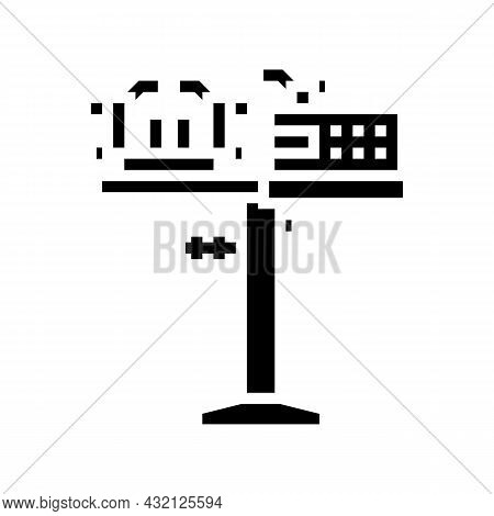 Racquet Stringing Machine Glyph Icon Vector. Racquet Stringing Machine Sign. Isolated Contour Symbol