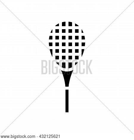 Racquet Tennis Glyph Icon Vector. Racquet Tennis Sign. Isolated Contour Symbol Black Illustration