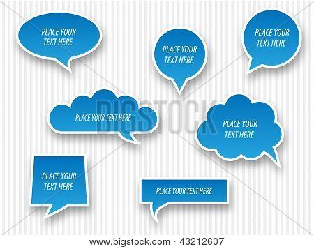 Speech bubbles blue