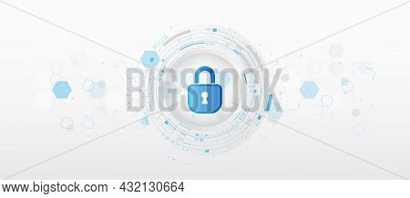 Data Protection, Privacy, And Internet Security Concept. Cyber Security For Business And Internet Pr
