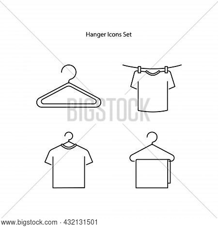 Clothes Hanger Icon Isolated On White Background. Clothes Hanger Icon Thin Line Outline Linear Cloth
