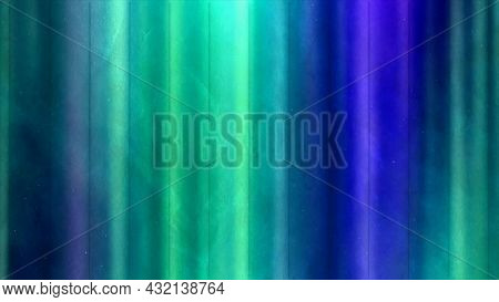 Unique Colorful Background Of The Polar Lights, Seamless Loop. Motion. Vertical Shining Stripes Of L