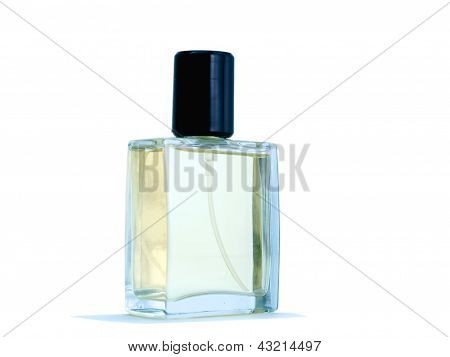 Empty After Shave Bottle On A White Background