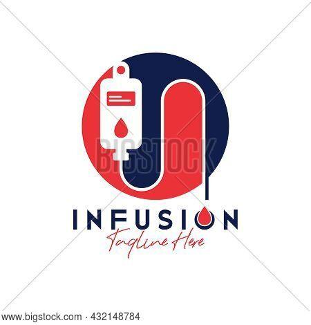 Human Health Infusion Inspiration Illustration Logo Design