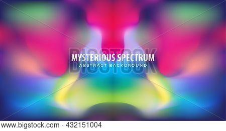 Mysterious Dark Spectrum Vector Illustration. Blurred Multicolour Gradient. Abstract Background Desi