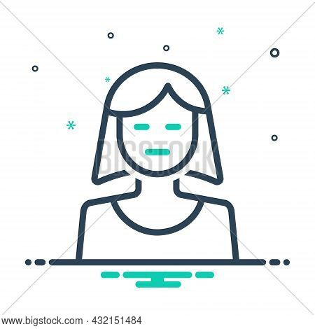 Mix Icon For She Daughter Girl Mother Lady Woman Human Teenager Young-woman Lass Wench Damsel