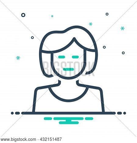 Mix Icon For She Daughter Girl Mother Wife Lady Woman Human Teenager Young-woman Lass Wench Damsel