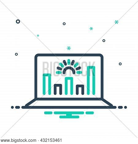 Mix Icon For Representation Analytics Data Graphs Monitoring Performance Presentation Demonstration