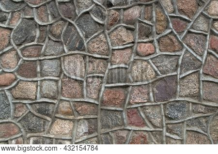 Textured Fragment Representing A Pattern Of Grainy Granite Stones In Brown, Gray, Beige And Pink Sha