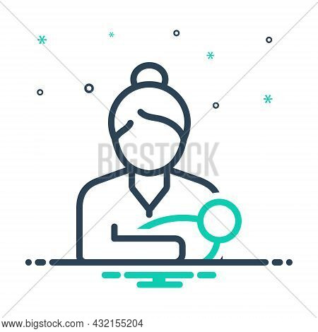 Mix Icon For Mom Mummy  Female Parent Mother Mommy Breast-feeding Baby Newborn