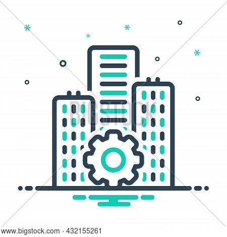 Mix Icon For Establishment  Foundation Underlay Basis Architecture Building Construction Premises