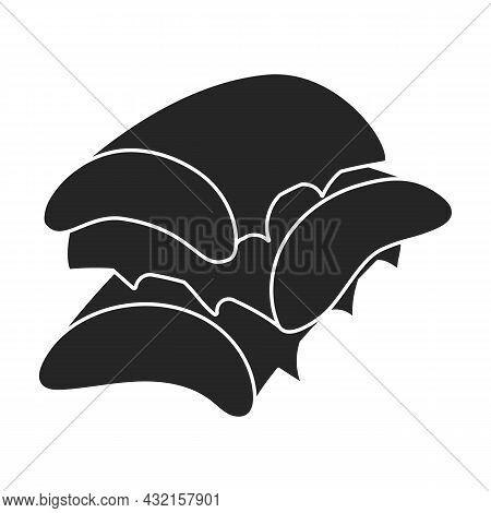 Aloe Vera Vector Icon.black Vector Icon Isolated On White Background Aloe Vera.