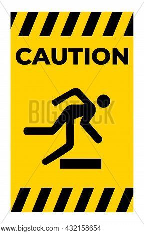 Beware Obstacles Symbol Sign Isolate On White Background,vector Illustratio