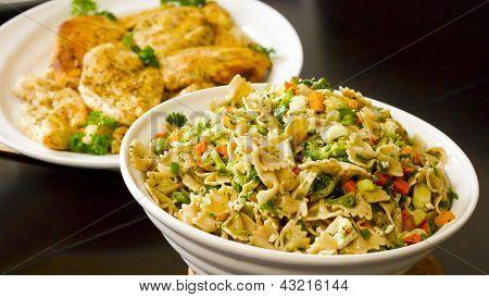 Pasta Salad and Chicken