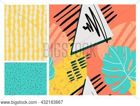 Nostalgia Flower Spring Texture Collection Surface Pattern Print, Retro Carton Graphic Decor With Mo