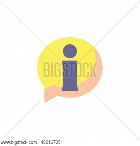 Helpdesk Info Flat Icon, Vector Sign, Information Speech Bubble Colorful Pictogram Isolated On White
