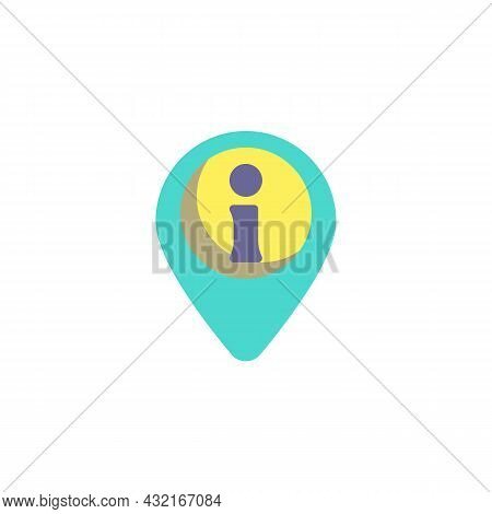 Map Pointer With Information Flat Icon, Vector Sign, Info Map Marker Colorful Pictogram Isolated On