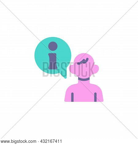 Help Desk, Operator Flat Icon, Vector Sign, Customer Service Colorful Pictogram Isolated On White. S