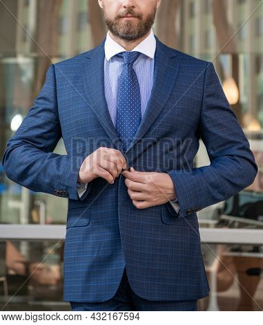 Cropped Manager In Businesslike Suit Outside The Office, Entrepreneur