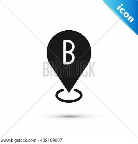 Grey Map Pin Icon Isolated On White Background. Navigation, Pointer, Location, Map, Gps, Direction,