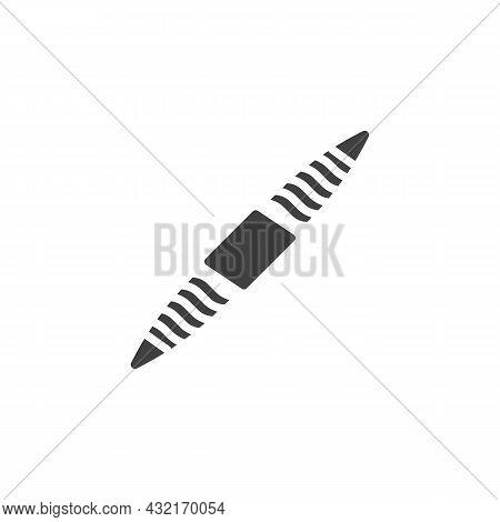 Hanger Bolt, Fastener Vector Icon. Filled Flat Sign For Mobile Concept And Web Design. Hanger Screw