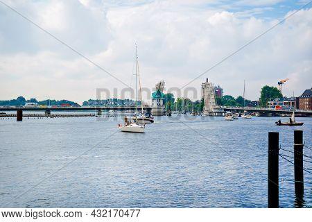 Kappeln, Germany - July 27, 2021: Kappeln, Harbor City In Schleswig-holstein, Germany. Popular Touri