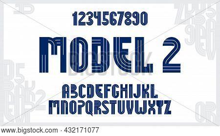 Abstract Geometric Original Font Vector Typeset, Logo Creation Alphabet Minimal Tech Linear Geometry